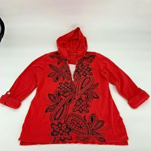 Style & Co Sport Womens Red Sweater Sz M